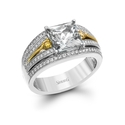 Simon G Diamond 18k Two Tone Gold Engagement Ring Setting