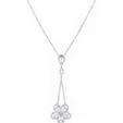 1.92ct Diamond 18k White Gold Pendant Necklace