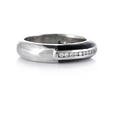 .23ct Hidalgo Diamond and Black Enamel 18k White Gold Ring