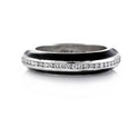 Hidalgo Diamond and Black Enamel 18k White Gold Ring