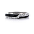 .34ct Hidalgo Diamond and Black Enamel 18k White Gold Ring