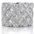 6.44ct Diamond 18k White Gold Eternity Wedding Band Ring