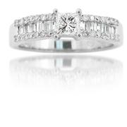 Diamond 18k White Gold Engagement Ring