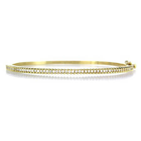 for diamond bangles bangle wave item bracelet natural row women gold double solid yellow real