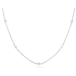 .91ct Diamonds By The Yard 18k White Gold Necklace
