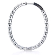 9.16ct Diamond 18k White Gold Hoop Earrings