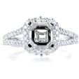 .60ct Diamond Platinum Halo Engagement Ring Setting