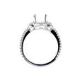 .51ct Diamond 18k White Gold Halo Engagement Ring Setting