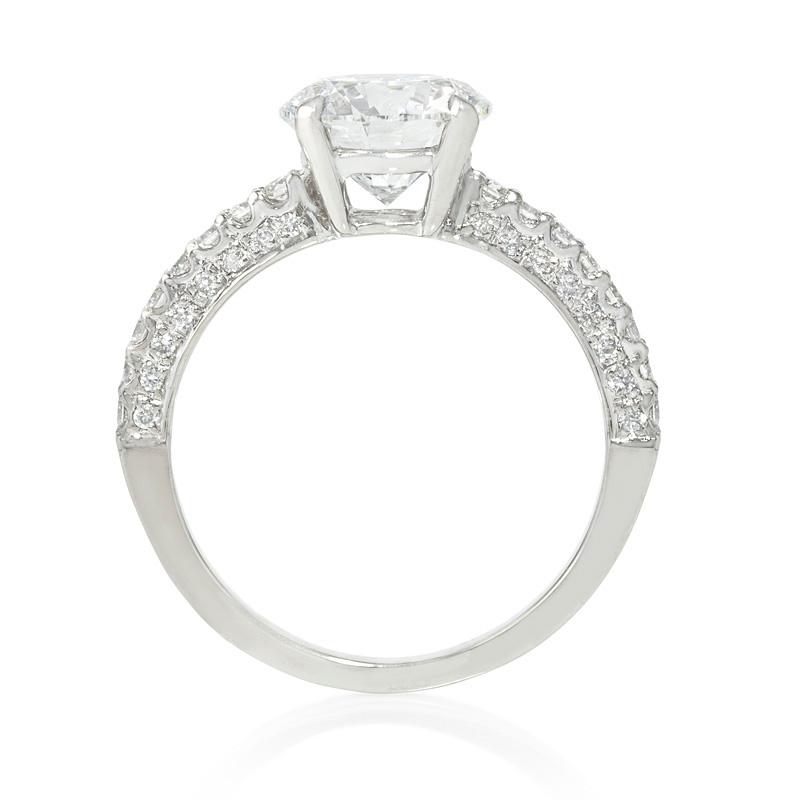 32ct Diamond Platinum Engagement Ring Setting