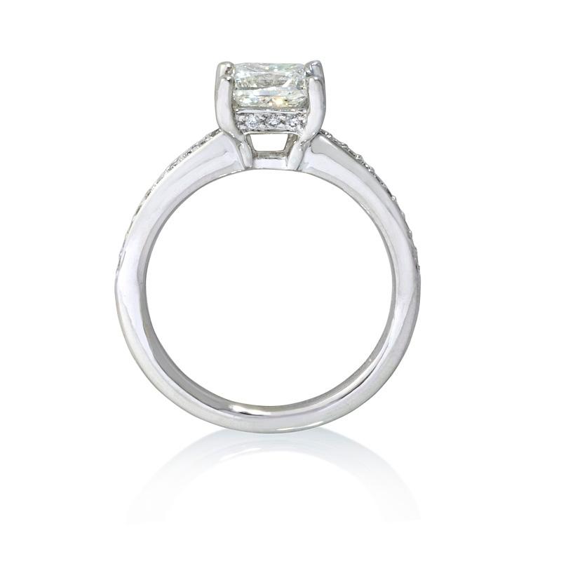 14ct Diamond Platinum Engagement Ring Setting