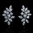8.01ct Diamond 18k White Gold Cluster Earrings