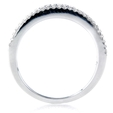 1.29ct Diamond 18k White Gold Wedding Band Ring