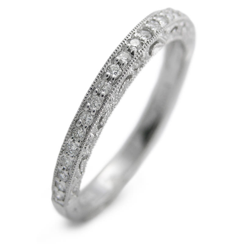 20ct antique style platinum wedding band ring