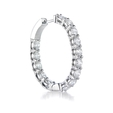 5.64ct Diamond 18k White Gold Hoop Earrings