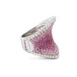 1.58ct Palmiero Diamond & Pink Sapphire 18k White Gold Ring
