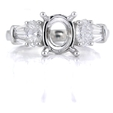 .95ct Diamond Platinum Engagement Ring Setting
