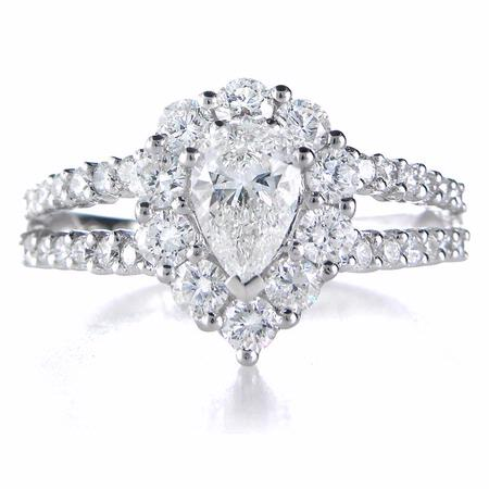 Diamond 18k White Gold Engagement Ring