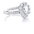 1.60ct Diamond 18k White Gold Engagement Ring