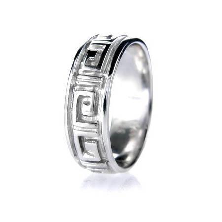 Mens Greek Style Wedding Rings Diamond Paradise