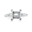 .55ct Diamond Antique Style Platinum Engagement Ring Setting