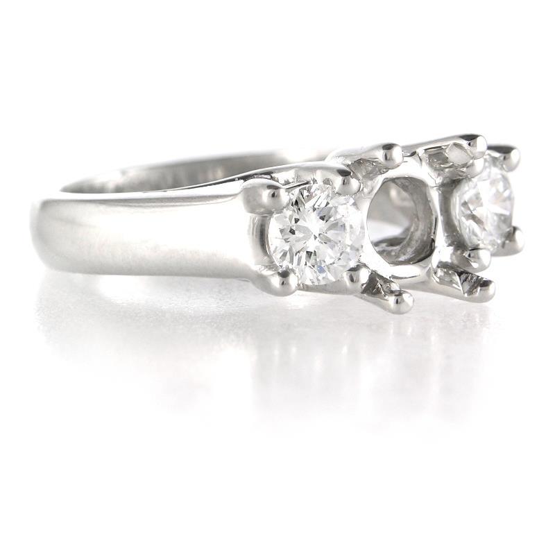 74ct Diamond Platinum Engagement Ring Setting