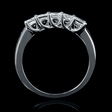 1.06ct Diamond 5 Stone Princess Platinum Wedding Band Ring