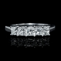 Diamond 5 Stone Princess Platinum Wedding Band Ring