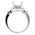 .86ct Diamond Antique Style 18k White Gold Halo Engagement Ring Setting