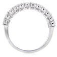 2.21ct Diamond 18k White Gold Wedding Band Ring