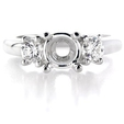 .45ct Diamond Platinum Engagement Ring Setting