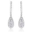 2.40ct Diamond 18k White Gold Dangle Earrings