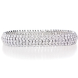 14.61ct Diamond 18k White Gold Bracelet