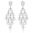 3.50ct Diamond 18k White Gold Chandelier Earrings