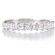.61ct Diamond 18k White Gold Wedding Band Ring