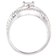 1.16ct Diamond 18k White Gold Ring