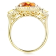 .33ct Diamond Citrine and Green Quartz 14k Yellow Gold Ring