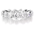 5.24ct Diamond Round Brilliant Cut Shared Prong Platinum Eternity Wedding Band Ring