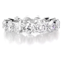 Diamond 5.24 Carats Round Brilliant Cut Shared Prong Platinum Eternity Wedding Band Ring