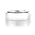 Men`s 14k White Gold Wedding Band Ring