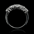 1.86ct Diamond Platinum  Five Stone Wedding Band Ring