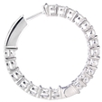 3.15ct Diamond 18k White Gold Hoop Earrings