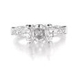 .79ct Diamond Platinum Antique Style Engagement Ring Setting