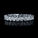 Diamond 1.92 Carats Round Brilliant Cut Platinum Eternity Wedding Band Ring
