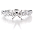 .49ct Diamond Antique Style Platinum Engagement Ring Setting