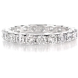 1.88ct Diamond Platinum Eternity Wedding Band Ring