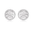 2.10ct Diamond 18k White Gold Cluster Earrings