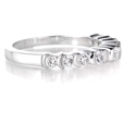 .53ct Diamond Antique Style Platinum Wedding Band Ring