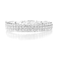 8.50ct Diamond 18k White Gold Bangle Bracelet