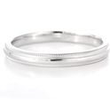 Men's Antique Style 14k White Gold Wedding Band Ring