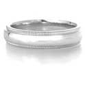 Men's Platinum Antique Style Wedding Band Ring